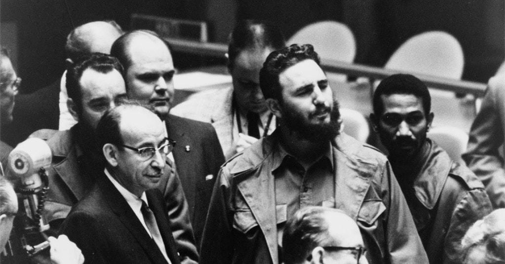 | Bildquelle: Fidel Castro bei einer Sitzung der Generalversammlung der Vereinten Nationen am 22. September 1960 (Warren K. Leffler / Public domain) © Fidel Castro bei einer Sitzung der Generalversammlung der Vereinten Nationen am 22. September 1960 (Warren K. Leffler / Public domain) | Bilder sind in der Regel urheberrechtlich geschützt